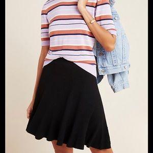 Maeve black knit ribbed mini skirt ANTHROPOLOGIE